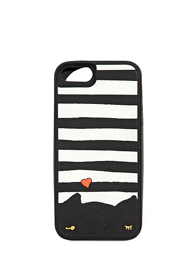 Striped Cat Rubber iPhone 5 Case ($77)