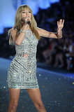 "Taylor Swift performed ""I Knew You Were Trouble"" in a daring minidress."
