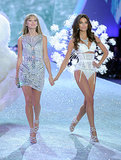 Taylor Swift and Lily Aldridge strutted down the catwalk together.