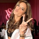 Alessandra Ambrosio knows nude nails are oh so appropriate for a lingerie show! And clearly she's a pro at giving love to the camera. Source: Inastagram user striketwoposes