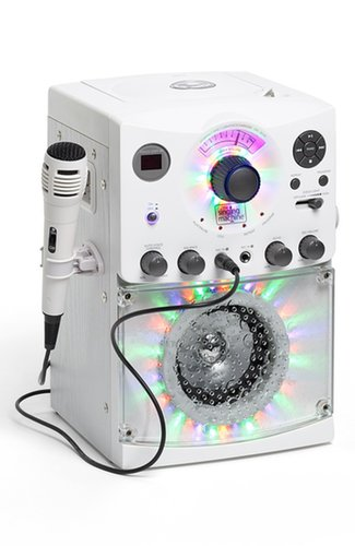 For 8-Year-Olds: Singing Machine Karaoke System with Disco Lights