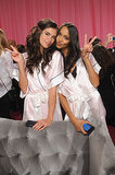 Sara Sampaio and Lais Ribeiro kept the peace backstage.