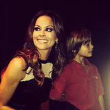 Brooke Burke shared a moment with son Shaya while filming Dancing with the Stars.  Source: Instagram user brookeburke