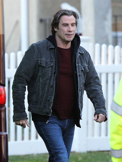 John Travolta filmed parts of The Forger on Wednesday in Newton, MA.