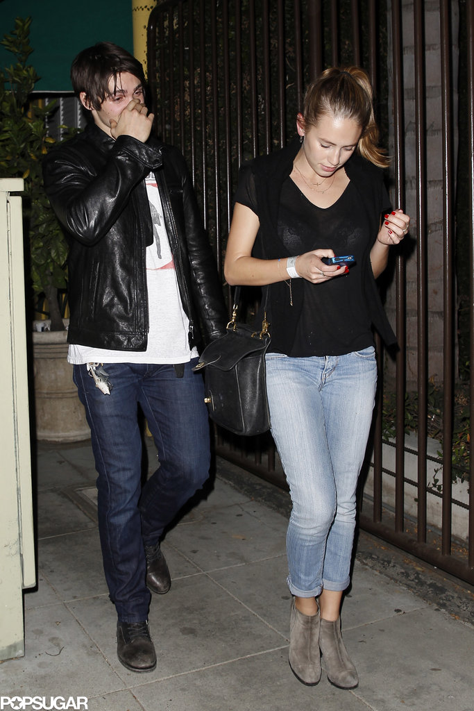 Dylan Penn and Hopper Penn left a dinner with their dad, Sean Penn, and Jon Hamm in LA.