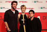 Liam Hemsworth, Jennifer Lawrence, and Josh Hutcherson attended a photocall for their new film in Rome.