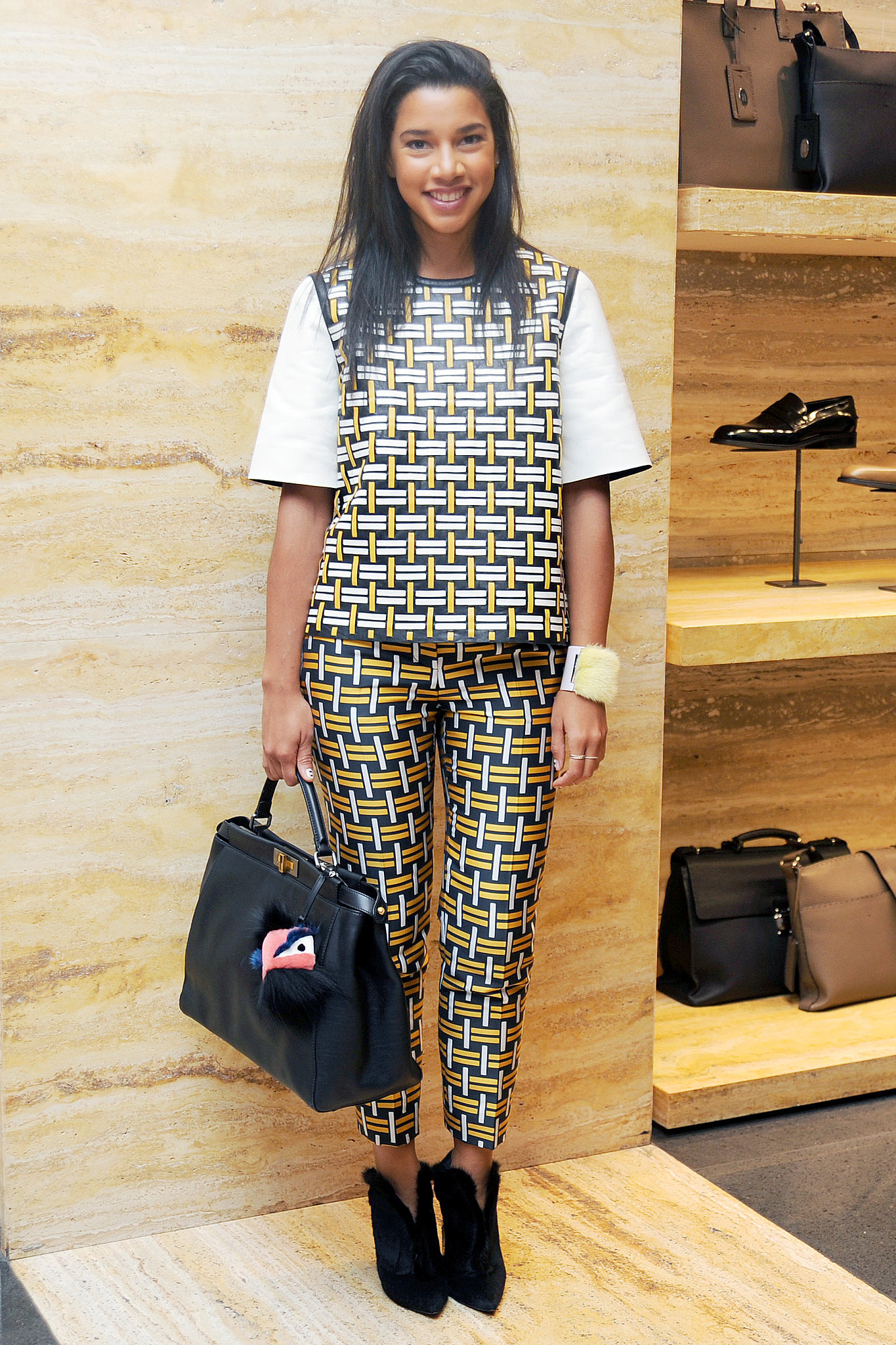 Hannah Bronfman in Fendi at Vogue's Fendi Buggies launch.