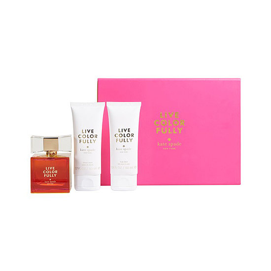 Kate Spade New York's Live Colorfully set ($98) is the newest fragrance offering. It has the scent and the paired shower gel and body lotion.