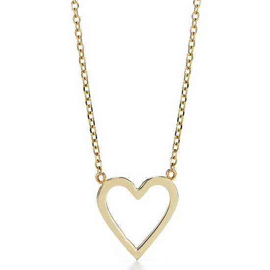 Sarah Chloe Open Heart Necklace