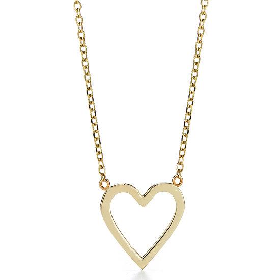 Sarah Chloe Open Heart Necklace
