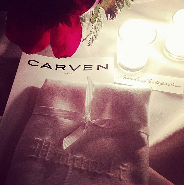 Dinner with Carven is all the better over candlelight. Source: Instagram user hannelim