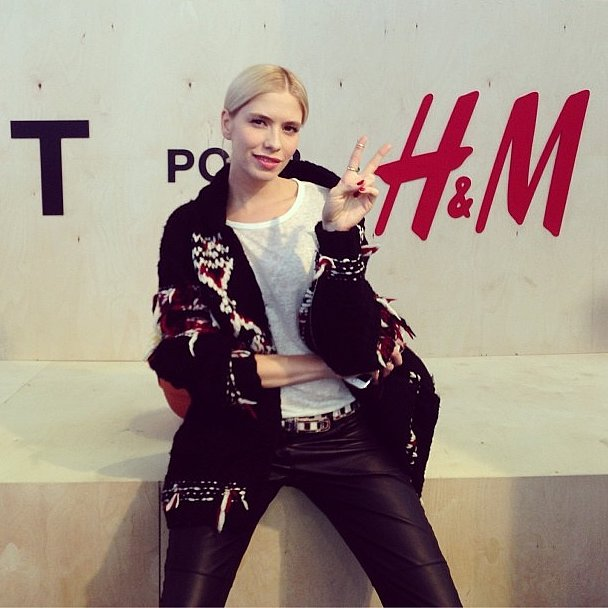 Elena Perminova debuted her Isabel Marant for H&M pieces, and we all felt a pang of jealousy. Source: Instagram user glamour_russia