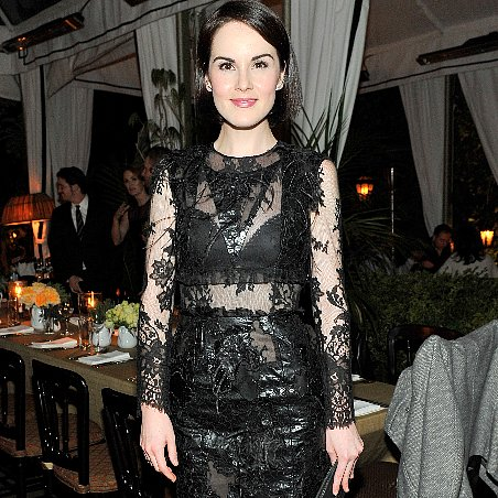 Michelle Dockery in Sexy Black Dress at Erdem Dinner