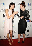 Rachel McAdams joked with Olga Kurylenko during the premiere of To the Wonder in April 2013 in LA.