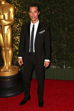 Matthew McConaughey attended the Governors Awards in LA.