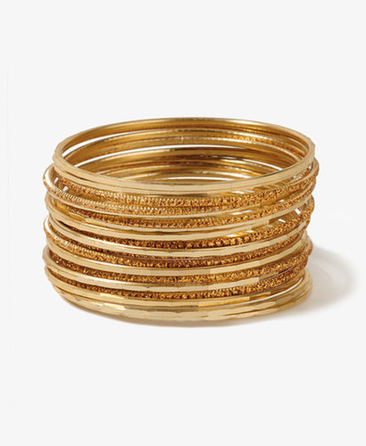 FOREVER 21 Glittered Bangle Set