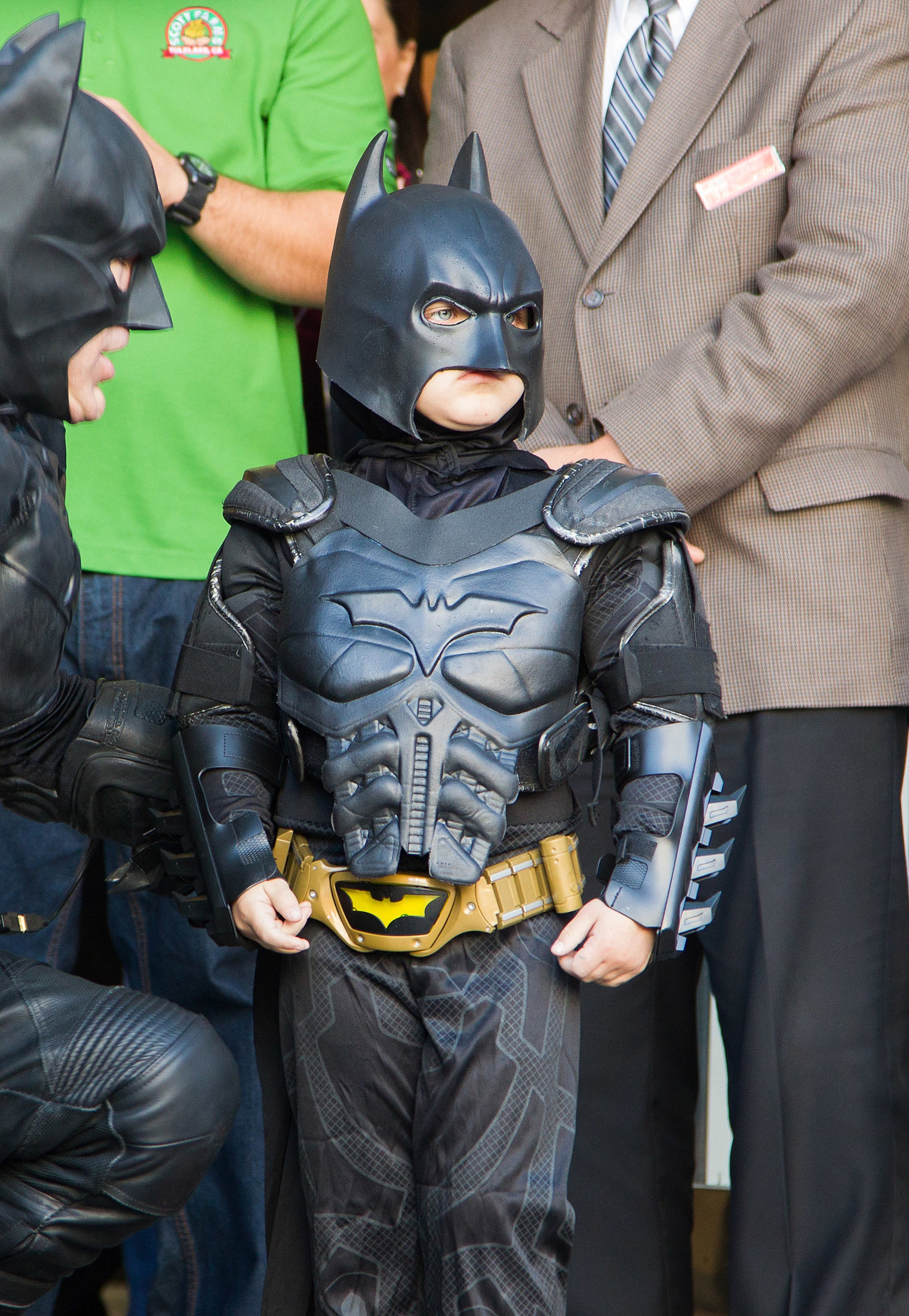 Batkid talked strategy with Batman after Lou Seal was kidnapped