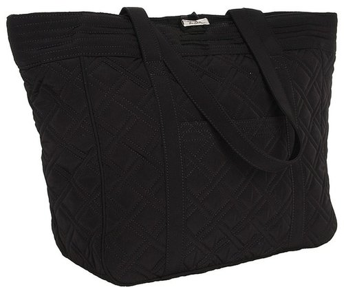 Vera Bradley - Large Laptop Tote (Black) - Bags and Luggage