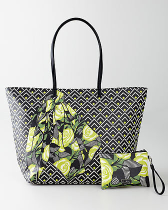 Vera Bradley La Neon Rose Double-Take Tote