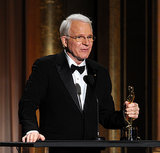 Steve Martin gave a heartfelt acceptance speech, getting emotional as he spoke of his wife's support.