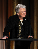 Angela Lansbury was all smiles when she accepted her award.