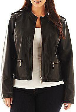 a.n.a® Faux-Leather Jacket - Plus