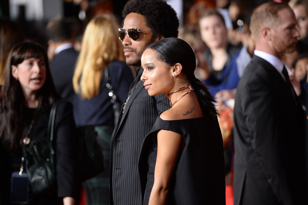 Lenny Kravitz and his daughter, Zoe, posed together.
