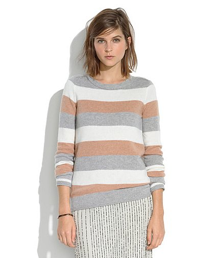 Pack one great sweater, like this Madewell tri-striped gamine sweater ($80) that you can throw on with jeans on the plane for travel and again around the house.