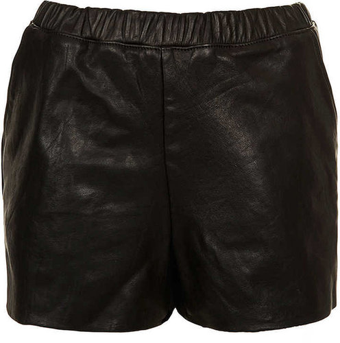 Petite MOTO Leather Shorts