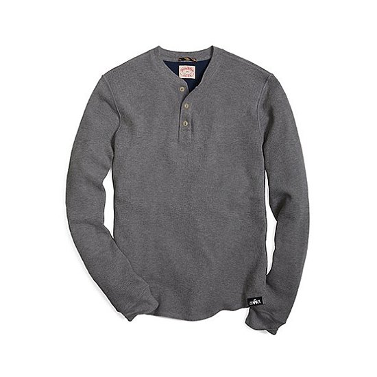 Whether on its own or under a plaid shirt, this Brooks Brothers thermal henley ($70) will keep him toasty warm this Winter.