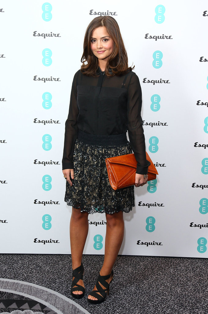 At the BAFTA Rising Stars party in February 2013, Jenna could have been in character, wearing a floral print not unlike the ones Clara wears in Doctor Who.