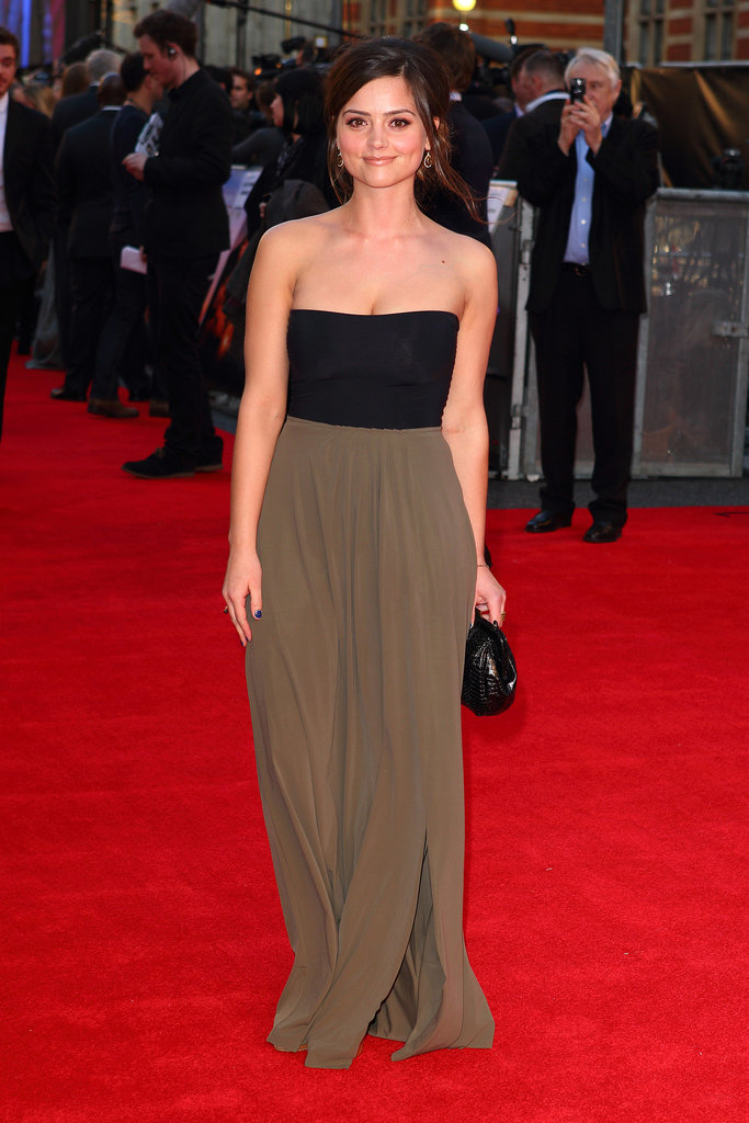 A simple, chic strapless dress was Jenna's choice for the premiere of Titanic 3D in 2012.