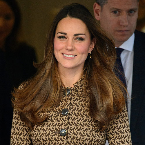 Kate Middleton in a Brown Dress With Prince William