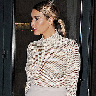 Kim Kardashian in See-Through Top | Pictures