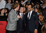 Josh Hutcherson enjoyed a good laugh with Sam Claflin and Jeffrey Wright.
