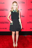 Kiernan Shipka in Miu Miu at the LA Catching Fire premiere.