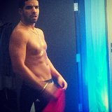 Drake made our day a bit better with this shirtless snap. Source: Instagram user champagnepapi