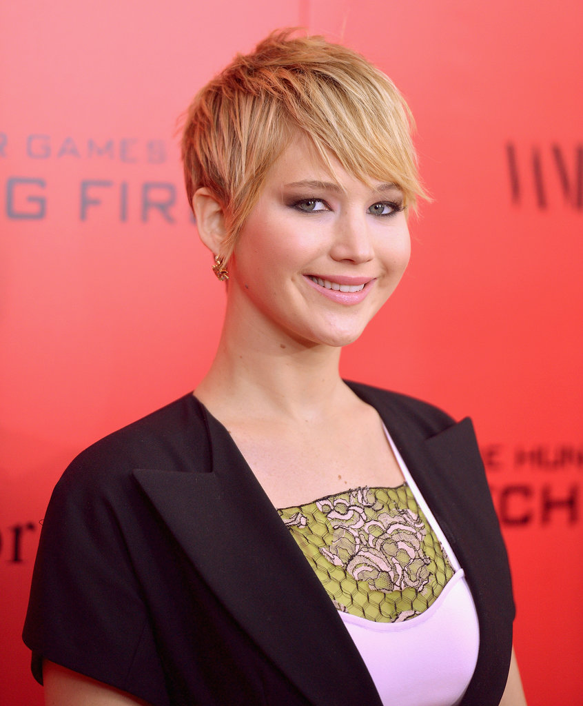 Jennifer Lawrence showed us another adorable way to style her hair.