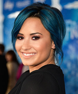 Demi Lovato Blue Hair at Frozen Premiere