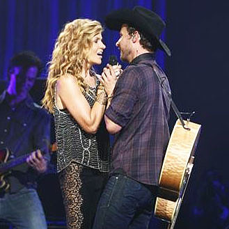 Connie Britton Wearing Lace Pants on Nashville