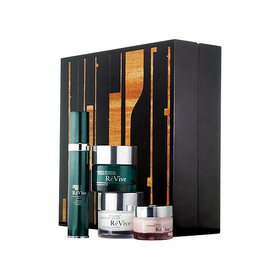 "Want someone to feel like a Park Avenue princess? For the ultimate in pampering, treat your giftee to the RéVive Artbox 11 ($575). The packaging is actually the star of this present. It's inspired by the painting ""Fifth Street C11.67"" by artist Caio Fonseca. Inside, you'll experience the ultimate in skin care luxury."