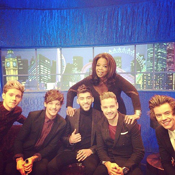 Oprah got to spend some time with the boys of One Direction backstage at The Jonathan Ross Show in London. Source: Instagram user opr