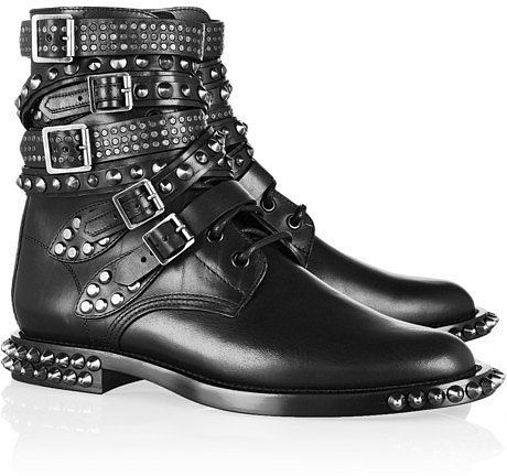 Even though I've been very good this year, there's no reason why I can't look like a badass. These Saint Laurent Rangers Studded Leather Boots ($2,395) are the ultimate in edgy glamour — just check out those toe spikes!  — Britt Stephens, assistant entertainment editor