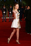 Scarlett Johansson made a special appearance at the premiere of Her at the Rome Film Festival in November 2013.