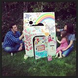 Harper Smith got some help from her mom and dad, Tiffani Thiessen and Brady Smith, decorating a playhouse in hopes of winning a visit from Julius Jr.  Source: Instagram user tathiessen
