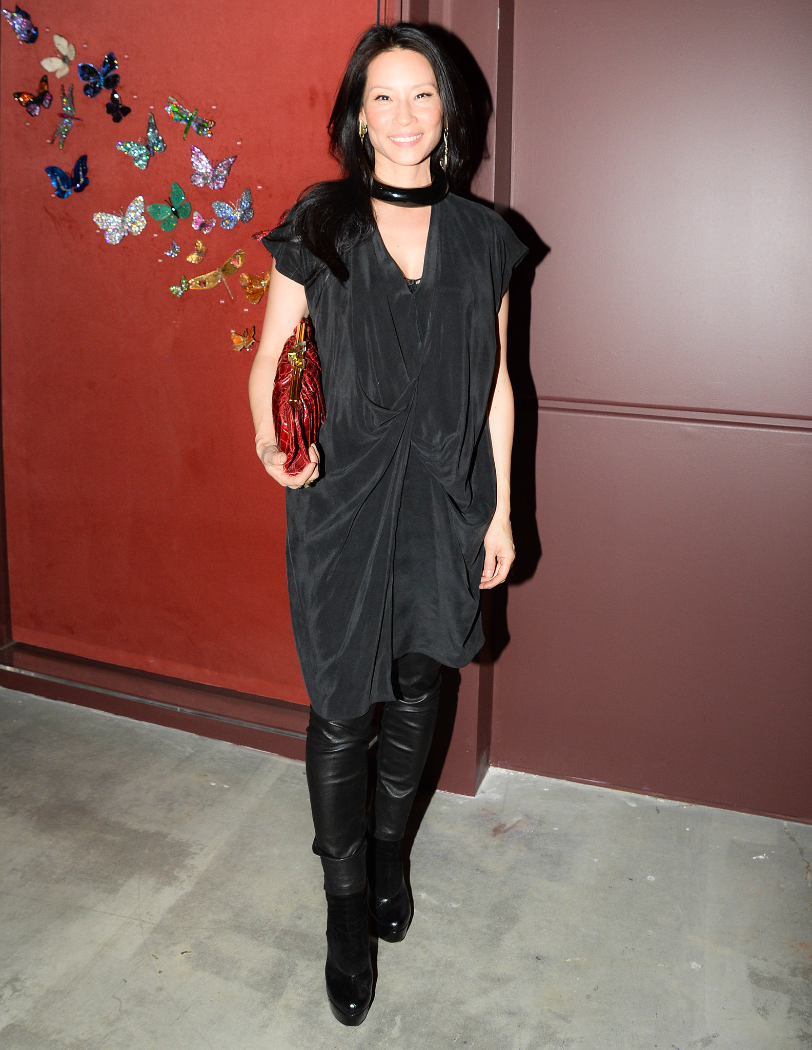 Lucy Liu at the Jewels by JAR viewing party.