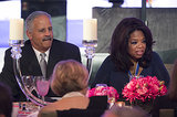 Oprah Winfrey was joined by her longitme partner, Stedman Graham, at the DC dinner.