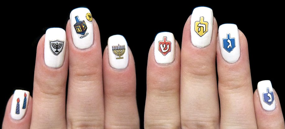 Midrash Manicures Hanukkah Nail Decals