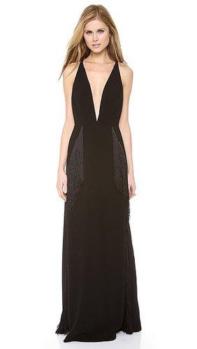 Zimmermann Good Love Deep V Quill Dress
