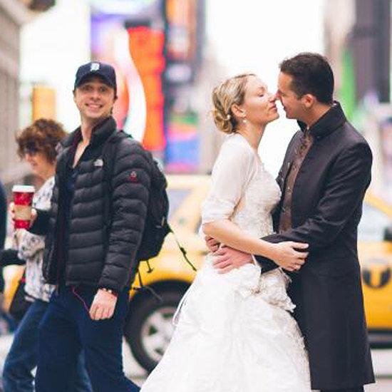 Zach Braff Photobombs a Couple's Wedding Photo